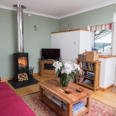 Enjoy the log burner during the winter season