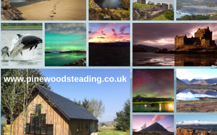 Scottish Highlands montage centred around our luxury self catering accommodation