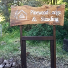 Lodge & Steading sign
