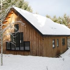 Steading in December snow